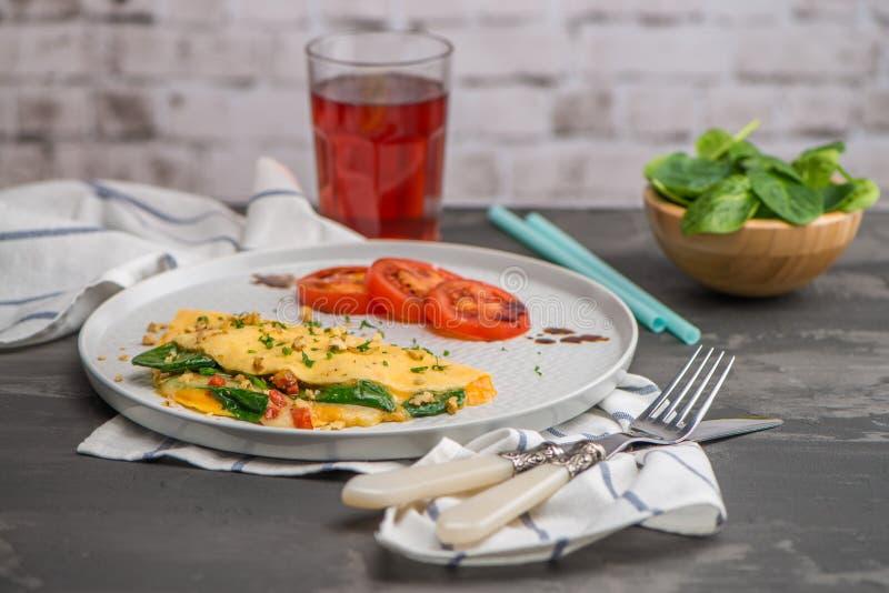 Omlet z warzywami zdjęcie stock