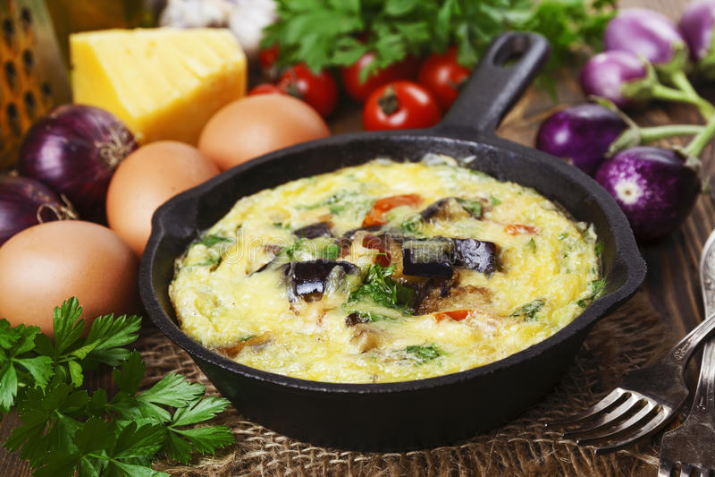 Omlet z warzywami obrazy stock