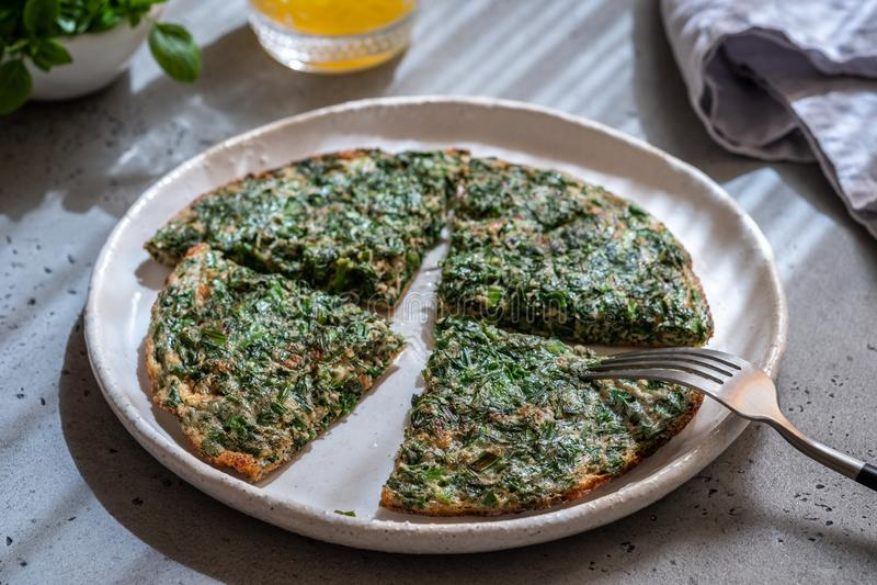 Omlet z ziele obraz stock