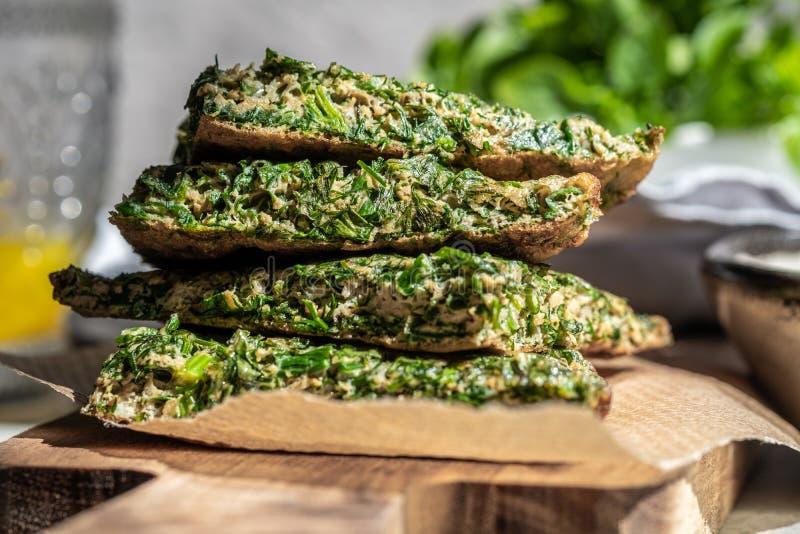 Omlet z ziele zdjęcie royalty free