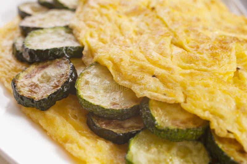 Omlet z Zucchini obraz stock