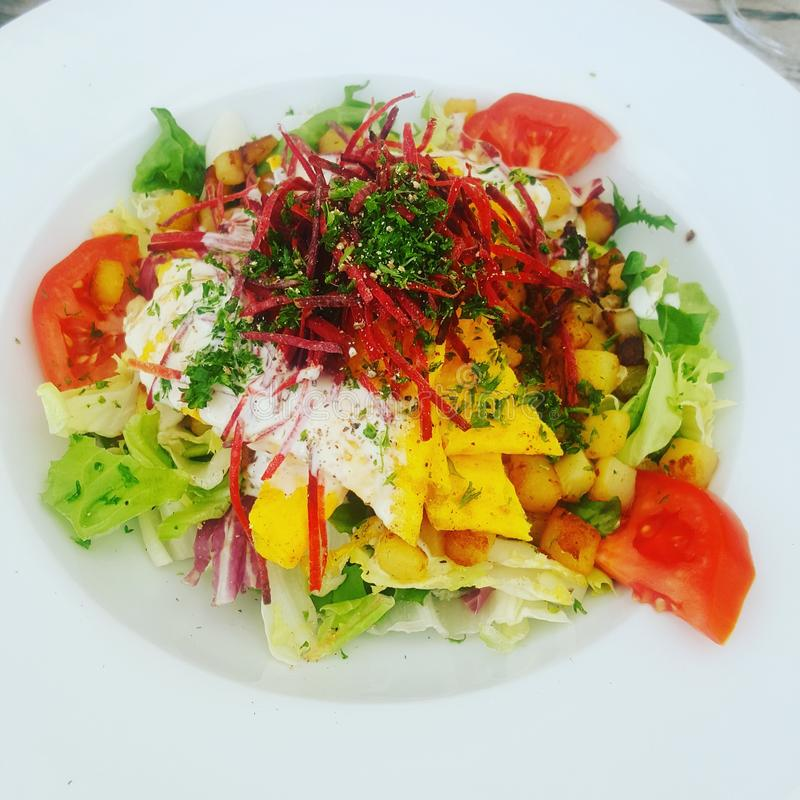 Omletu salade obraz royalty free