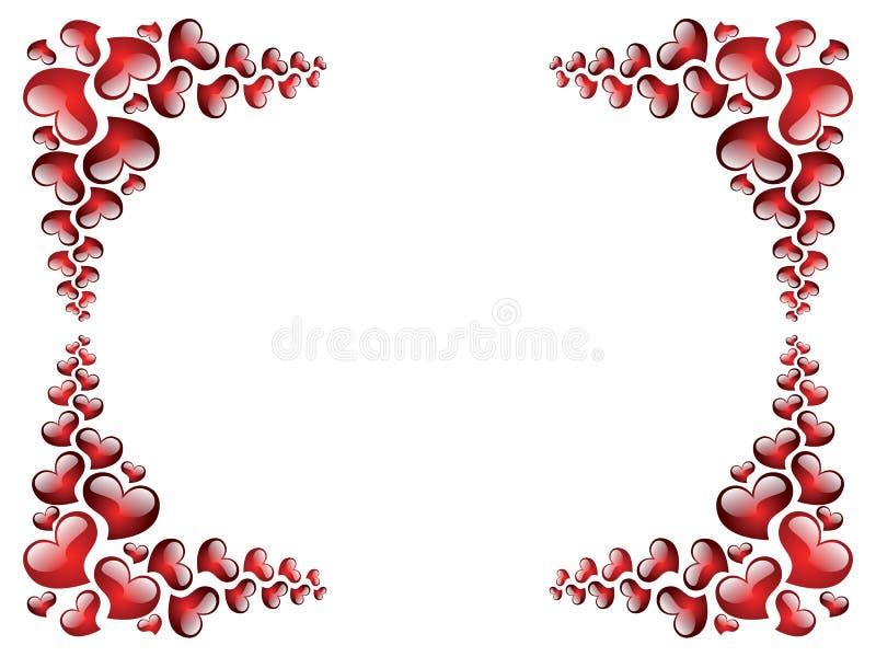 Omlijsting aan de dag van Valentine stock illustratie