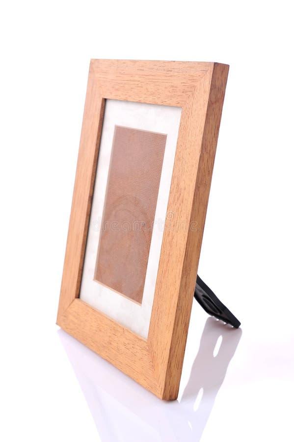 Omlijsting, geplateerd hout stock foto