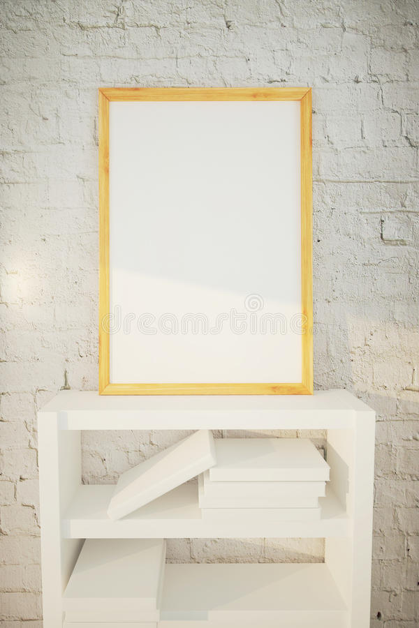 Omlijsting op bakstenen muur vector illustratie