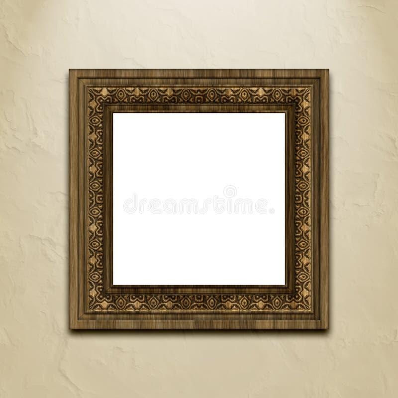 Omlijsting op muur. royalty-vrije stock afbeeldingen