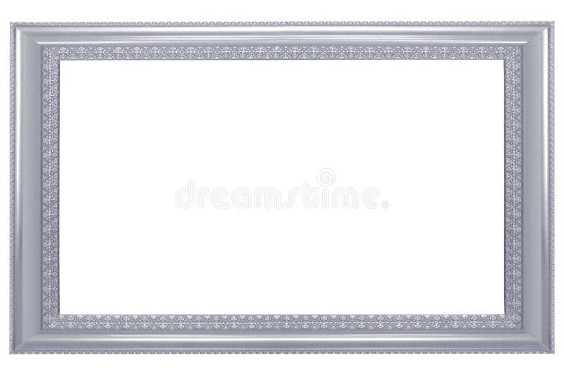 Omlijsting op witte achtergrond, leeg antiek kader wordt geïsoleerd dat stock foto