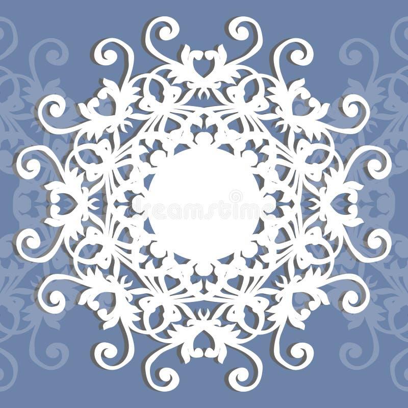 Omlijsting of ronde opening met ornament vector illustratie