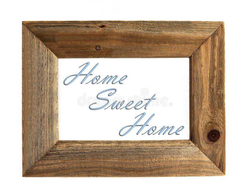 Omlijsting van het huis de Zoete Huis - Geïsoleerd Blauw -. royalty-vrije stock foto