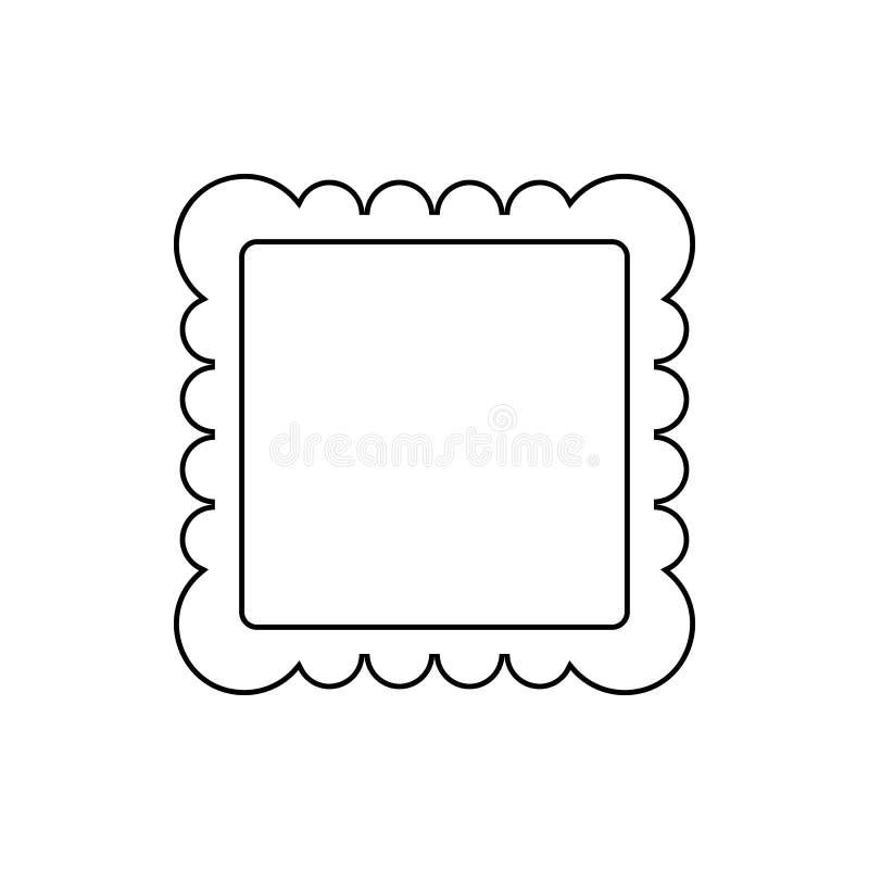 Omlijstingpictogram Element van Web voor mobiel concept en webtoepassingenpictogram Dun lijnpictogram voor websiteontwerp en ontw royalty-vrije illustratie