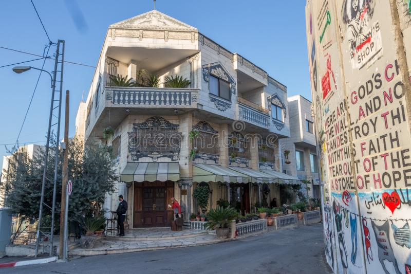 Ommuurd van Hotel, Bethlehem, stock afbeeldingen