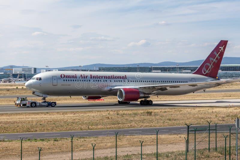Omni Air International Boeing 767-300 ER obrazy royalty free