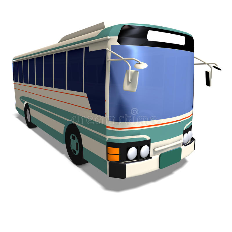 Omnibus royalty free illustration