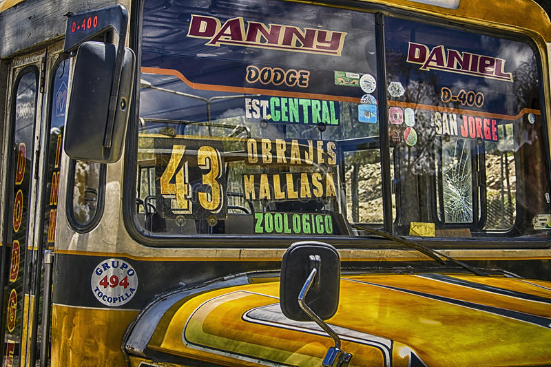 Omnibus amarillo imagen de archivo