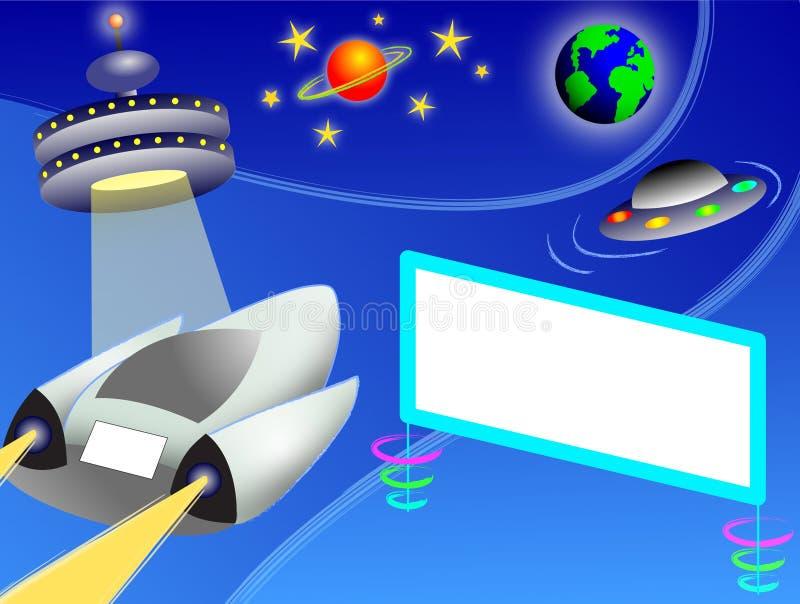 Omnibus d'espace extra-atmosphérique/ENV illustration stock