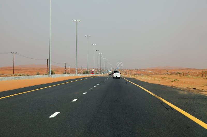 Omnibus de désert à Dubaï photo stock