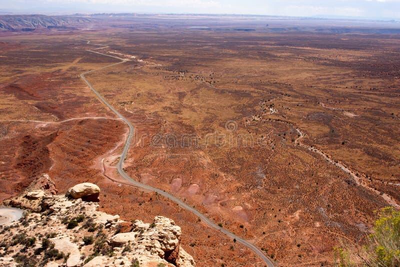 Omnibus de l'Utah du Moki Dugway image libre de droits