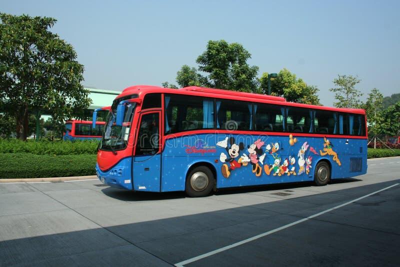 Omnibus de lanzadera de Hong-Kong Disneylandya. foto de archivo libre de regalías