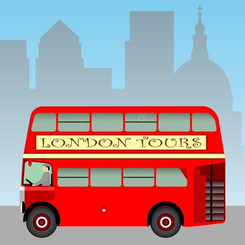 Omnibus de Londres stock de ilustración