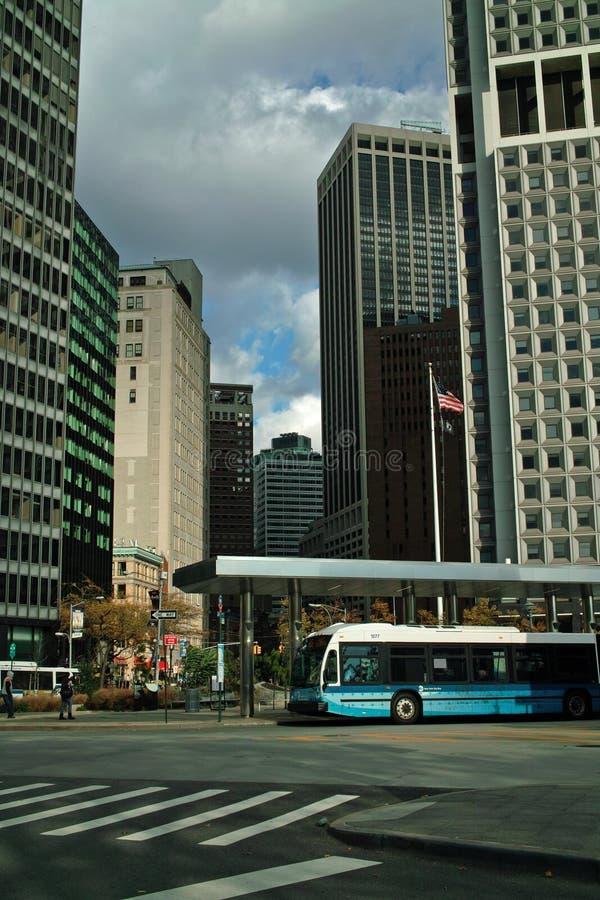 Omnibus de New York City imagenes de archivo