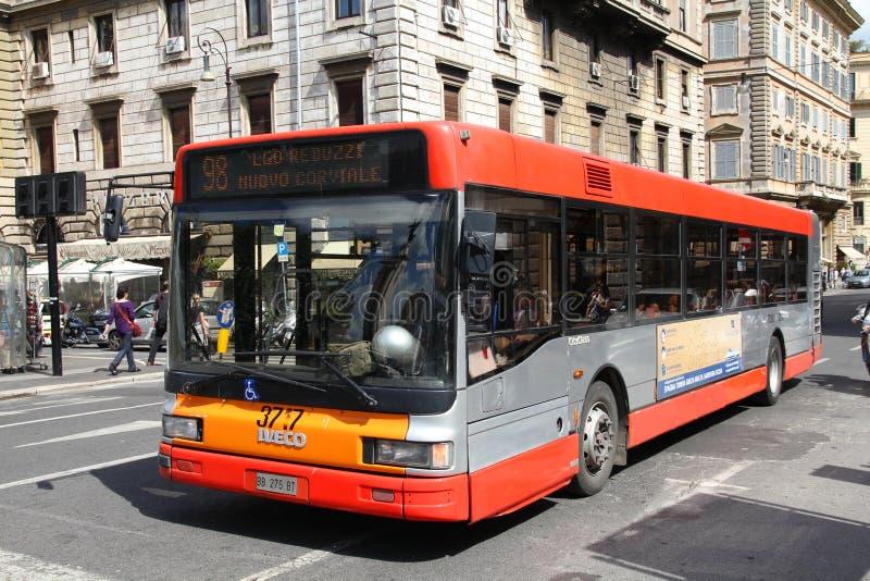 Omnibus de Roma fotografía de archivo