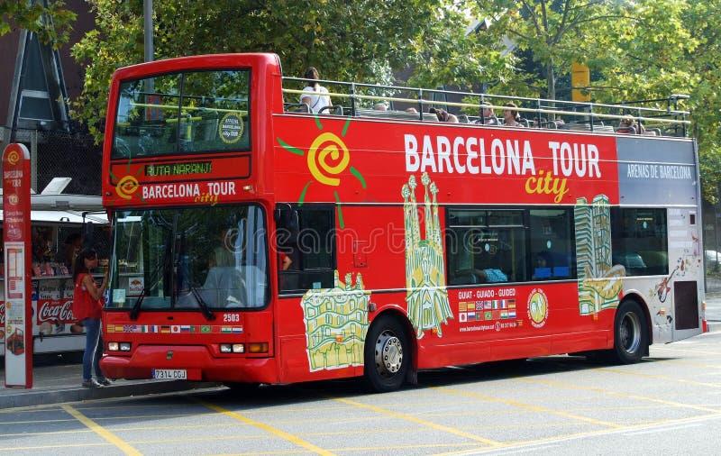 Omnibus de viaje de la ciudad de Barcelona foto de archivo