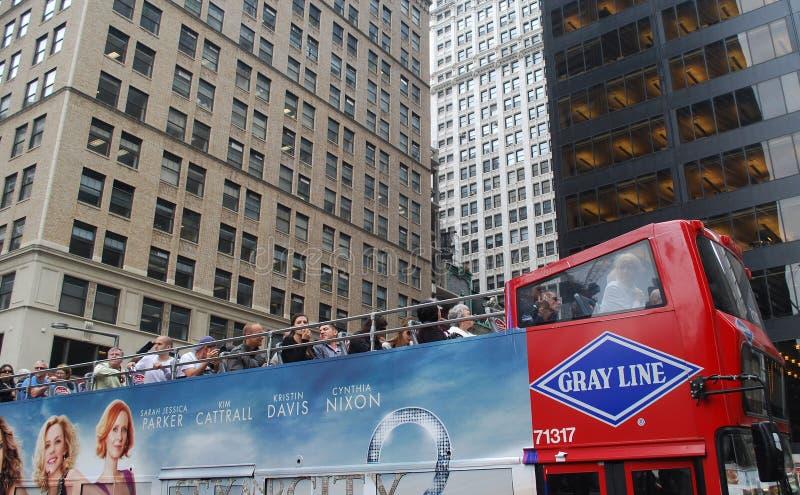 Omnibus del rojo del recorrido de Nueva York foto de archivo