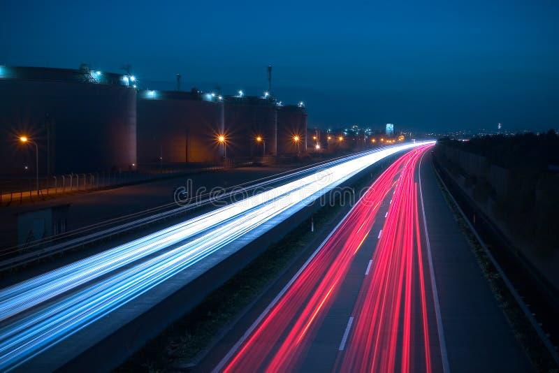 Omnibus la nuit photographie stock