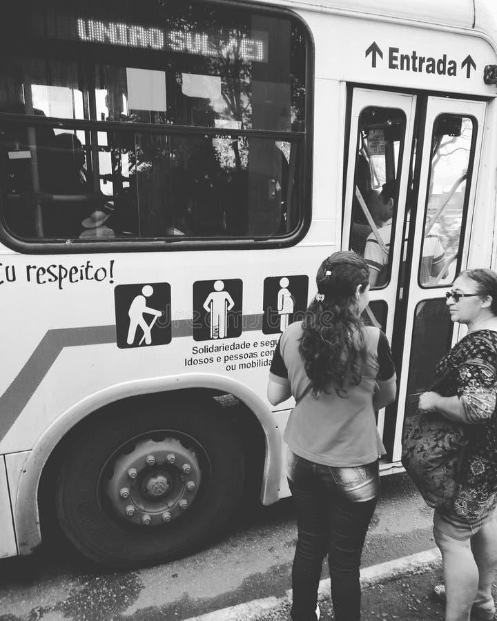 Omnibus público foto de archivo