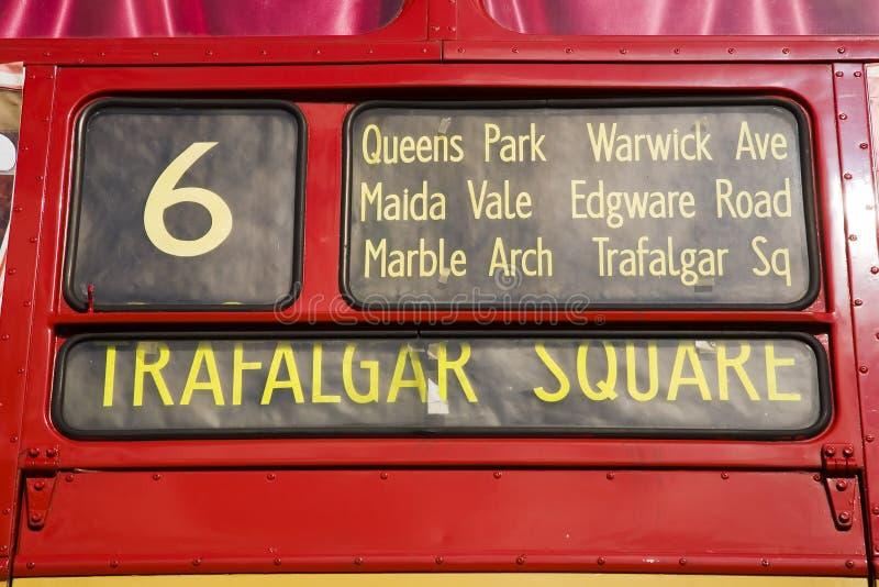Omnibus rojo de Londres, imagenes de archivo