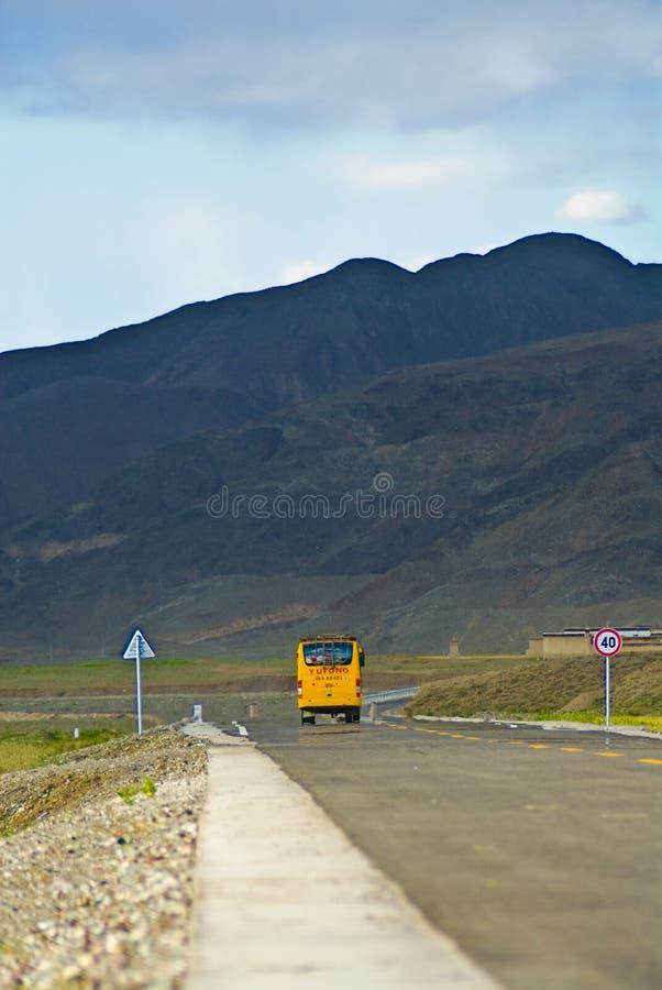 Omnibus tibétain image stock