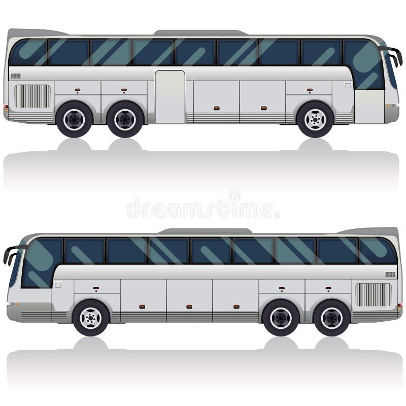 Omnibus turístico ilustración del vector