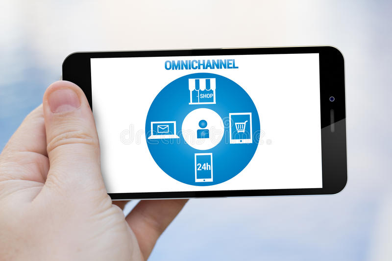 Omnichannel cell phone vector illustration