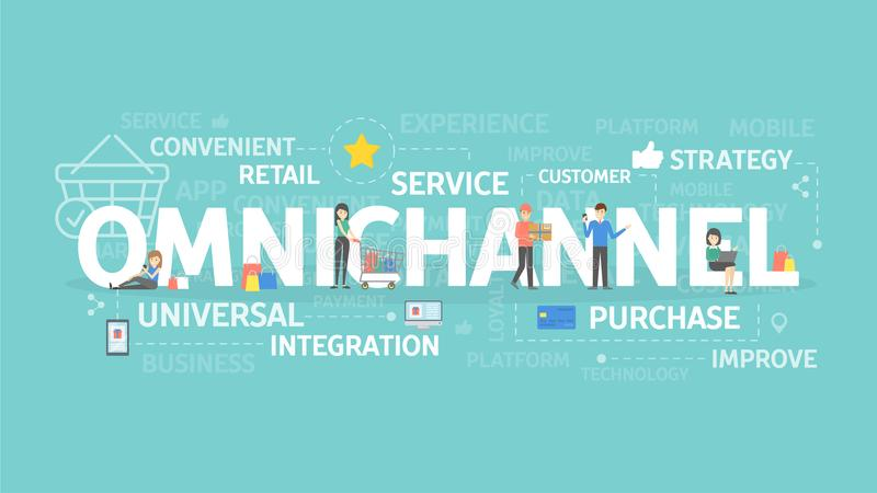Omnichannel concept illustration. royalty free illustration