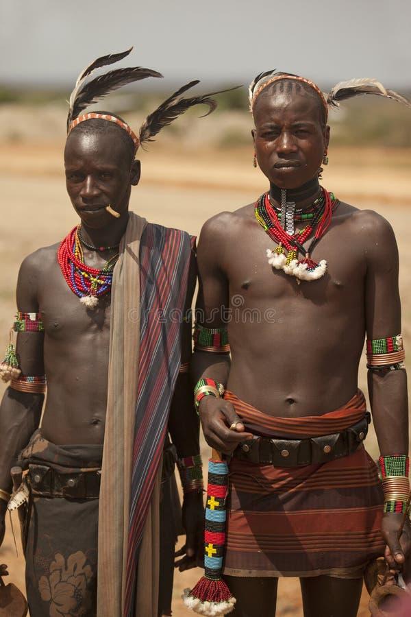 Omo谷的部族人在埃塞俄比亚,非洲 免版税库存图片