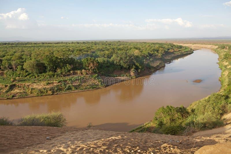 Omo-Fluss stockbilder