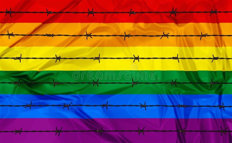Omosessualità e omofobia royalty illustrazione gratis