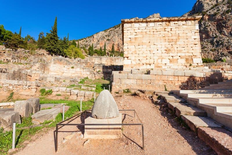 Omphalos kamień w Delphi obraz stock