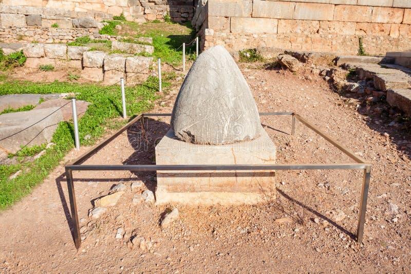 Omphalos kamień w Delphi zdjęcia stock