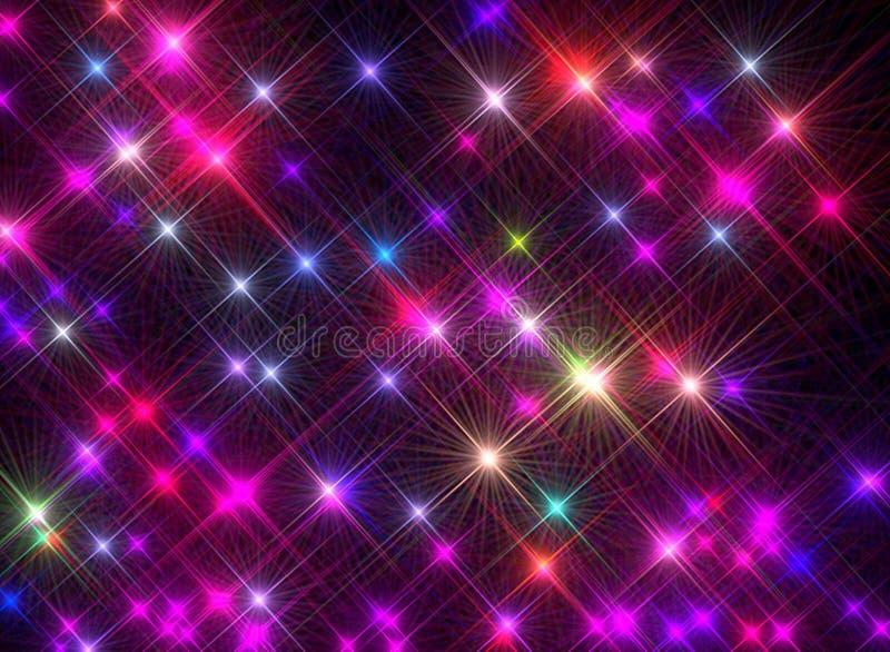 Omposition ¡ Ð светить красочным звездам на черной предпосылке бесплатная иллюстрация