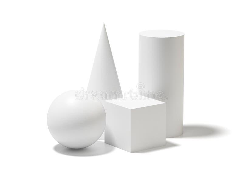 Omposition ¡ Ð основных геометрических форм бесплатная иллюстрация