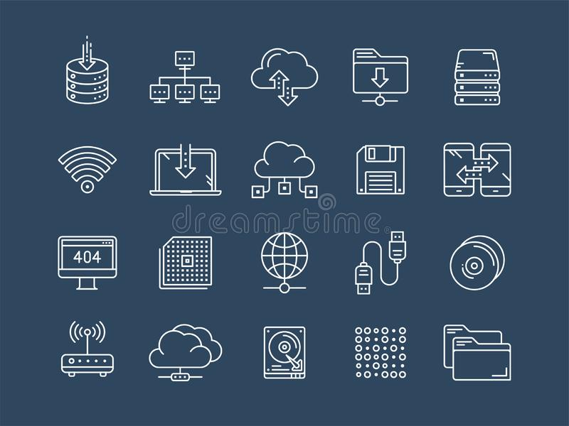 omputing的云彩 互联网技术 联机服务 数据处理,信息保障 连接数 稀薄的线网 皇族释放例证