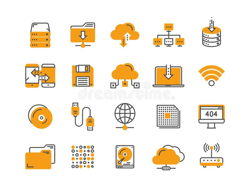omputing的云彩 互联网技术 联机服务 数据处理,信息保障 连接数 稀薄的线网 向量例证