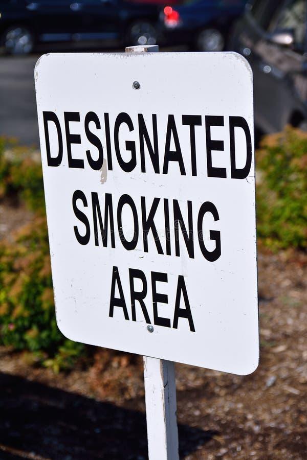 område angiven rökning fotografering för bildbyråer