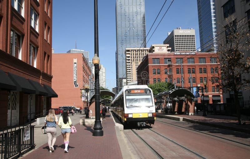 Område Dallas, Texas för västra slut royaltyfri foto