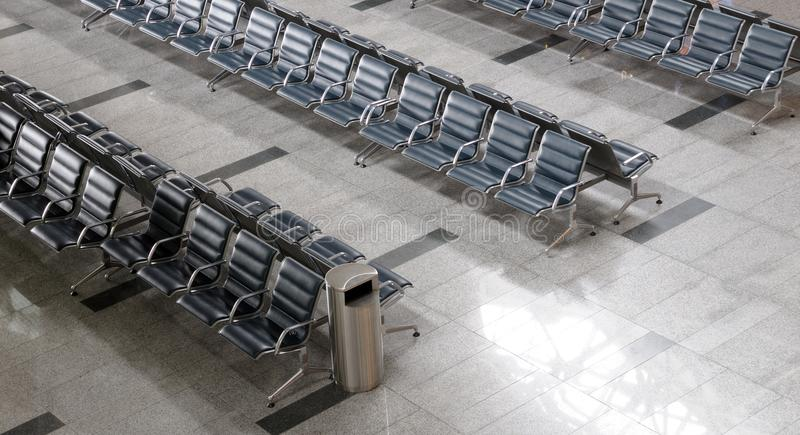 Område för avvikelse för flygplatsterminal inom arkivfoton