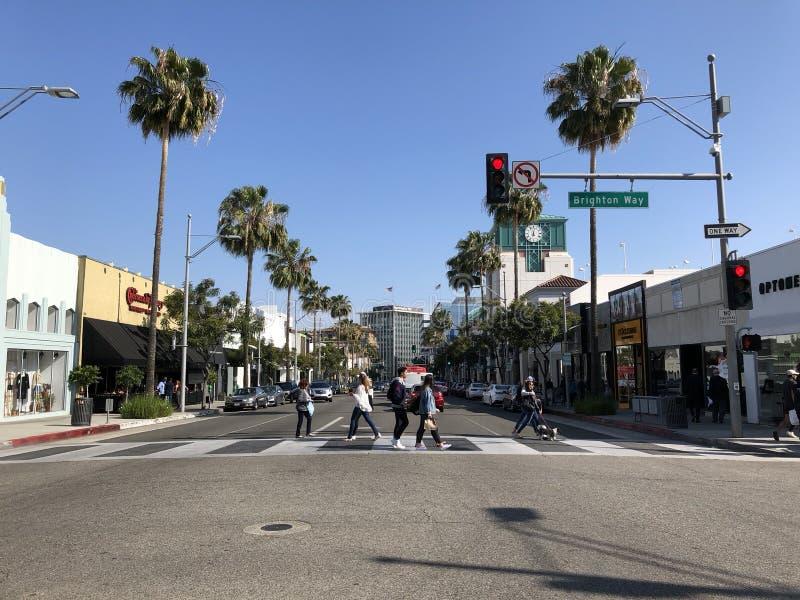 Område för Beverly Hills `-affär fotografering för bildbyråer