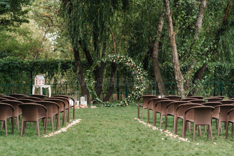 Område för bröllopceremoni arkivbild