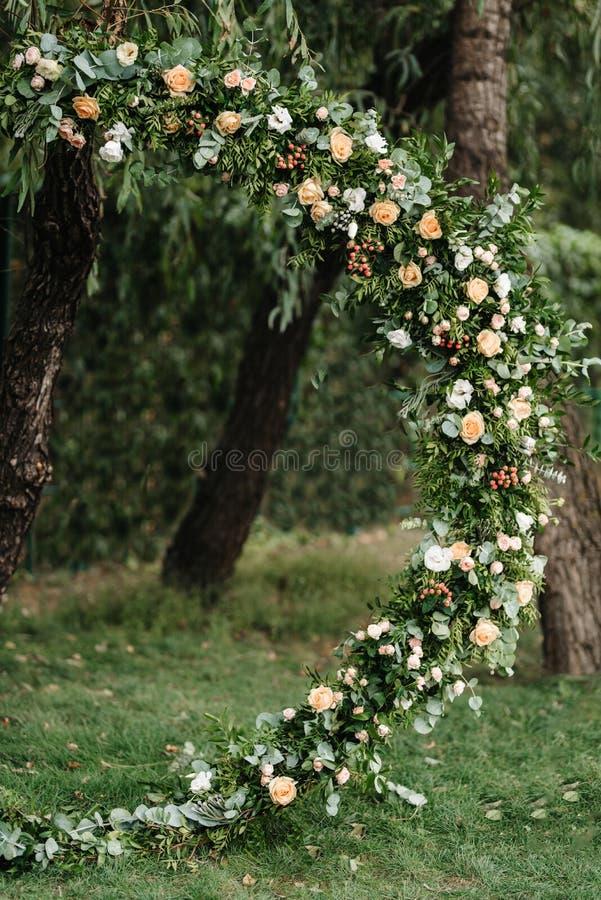 Område för bröllopceremoni arkivfoto