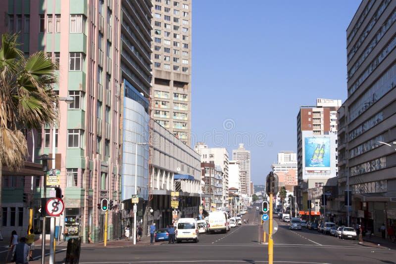 Område för central affär i Durban Sydafrika royaltyfri bild